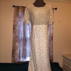Dresses & Skirts - Vintage Art Deco beaded and lace wedding dress